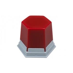 Воск базовый Гео / GEO красный прозрачный 75гр 489-1000