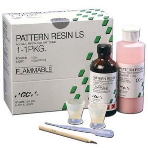 PATTERN RESIN LS флакон с порошком (100 г), флакон с жидкостью (105 мл), пипетка мерная, емкости для замешивания, кисть